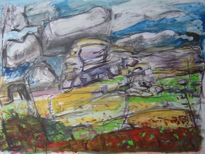 Haytor (Large Study for Purple Grazer)