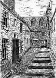 Louden's Close, St Andrews 1977 by Roger Dennis, Drawing, Pen on Paper