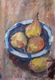 Pears by Roger Dennis, Painting, Acrylic on paper