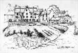 Pittenweem Harbour 1976 by Roger Dennis, Drawing, Pen on Paper