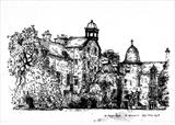 St Mary's Quad, St Andrews, 1976 by Roger Dennis, Drawing, Pen on Paper