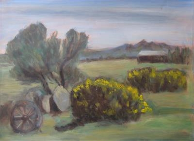 Dartmoor Field study 2 by Roger Dennis, Painting, Oil on Paper