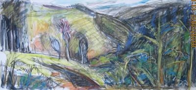 Yarner corner by Roger Dennis, Painting, Mixed Media on paper